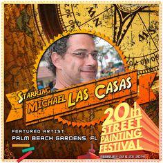 Michael Las Casas  http://streetpaintingfestivalinc.org/index.php/artists/featured-artists/34-michael-las-casas
