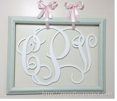 DIY Large Letter Monogram