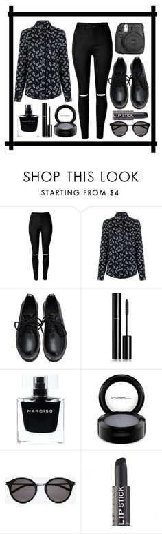 """Black"" by alinka-titova ❤ liked on Polyvore featuring Pink Tartan, Chanel, Narciso Rodriguez, MAC Cosmetics, Yves Saint Laurent, women's clothing, women, female, woman and misses"