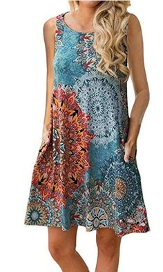 Summer Dress 2019 Women Vintage Floral Print Loose T shirt Dress Plus Size Female Sexy Sleeveless O-Neck Casual Dresses Vestidos - 8604 Yao Guo hong X Plus Size Maxi Dresses, Casual Dresses, Short Sleeve Dresses, Summer Dresses, Beach Dresses, Sleeveless Dresses, Bohemian Dresses, Dress Beach, Boho Dress