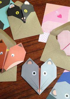 Origami Notepaper Set: Mouse : lollipop : paper treats & more...