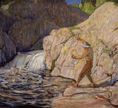 """urgetocreate: """" Tom Thomson, The Fisherman, """" Emily Carr, Canadian Painters, Canadian Artists, Landscape Art, Landscape Paintings, Group Of Seven Art, Tom Thomson Paintings, Nature Sauvage, Most Famous Artists"""