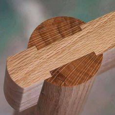 Uniones de madera en muebles.