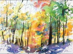 """Large Format 22""""x30"""" Fallscape watercolor painting & more - YouTube"""