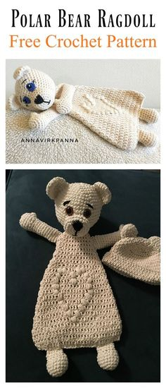 Adorable Polar Bear Ragdoll Free Crochet Pattern