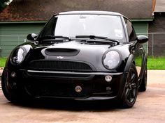 black on black mini cooper, tell me thing isn't a little sexy! Haha!!