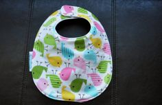 Spring Birds Drool Bib by SpoonerSistersDesign on Etsy, $10.00 Spring Birds, Bibs, Gift Ideas, Trending Outfits, Unique Jewelry, Handmade Gifts, Etsy, Vintage, Kid Craft Gifts