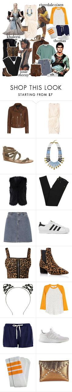 """halloween bounds ;; diana prince"" by the-elite-fangirls ❤ liked on Polyvore featuring AllSaints, Haute Hippie, Ash, BaubleBar, Chicwish, Yves Saint Laurent, A.P.C., adidas, WearAll and Tabitha Simmons"
