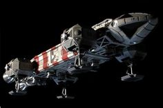 The Eagle transporter: The spaceship of my childhood dreams (designed by Brian Johnson for Space:1999 TV show).