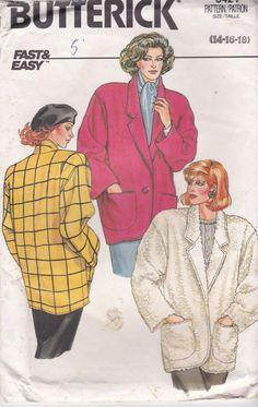 1980's Sewing Pattern  Butterick 3421 Jacket  by jennylouvintage
