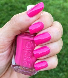 Essie - Pansy - hot pink nails - love this color for a spring or summer manicure
