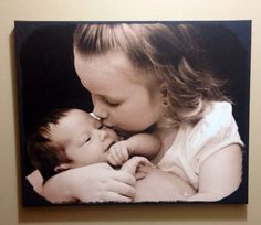 16x20 Custom Newborn Canvas on Etsy, $50.00