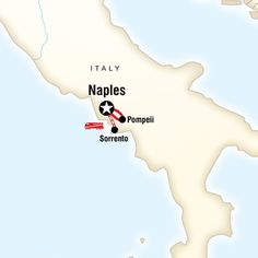 Map of Pizzafest in Naples