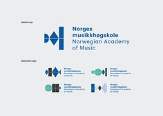 Logo for the Norwegian Academy of Music designed by Neue