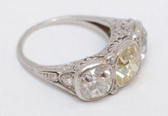 6.20ct Ladies Vintage Hand-Fashioned Fancy Yellow Diamond and Platinum Ring | eBay - another view, droooooool