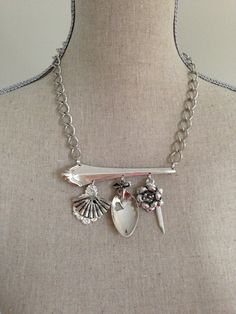 Spoon necklace Spoon Jewelry Silver Spoon by GeorginaBaker on Etsy, $57.00