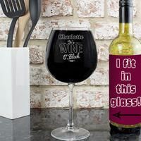 Personalised Wine O Clock Bottle of Wine Glass: Item number: 3517495161 Currency: GBP Price: GBP18.99