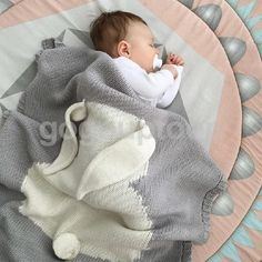 Bunny Kids Baby Napping Blanket Rabbit Bedding Towel Cover Throws Wrap Soft #Unbranded