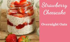 Rezept für Overnight Oats Strawberry Cheescake
