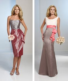 Bari Jay 870 Two toned bridesmaid dress | Wedding Shoppe ...