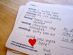 Five Senses Postcards