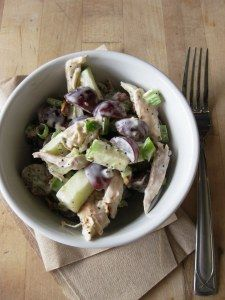 Rotisserie Chicken Salad with Grapes and Apple