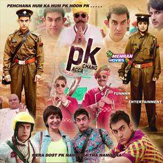 Aamir Khan New 2014 - 2015 Movie ( PK ) Poster Hd Mehran movies Dvd Pacca Chang 03022444894
