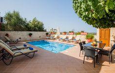Rethymno villa rental - Villa Kalypso is a bright, stylish newly built villain an idyllic location!