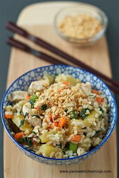 thai pineapple rice with chicken