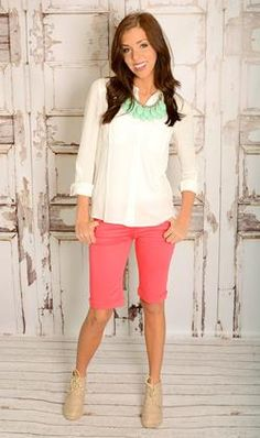 great sight for knee length shorts - Coral Bermuda Shorts $23