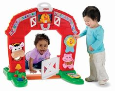 """Fisher-Price Laugh & Learn Learning Farm by Fisher Price. $46.96. Once in the barn, baby can feed the cow and turn on the lights. 3 great modes of play including Learning Mode, Music Mode, and Imagination Mode. Baby will have fun with role-play and realistic sound effects. Just crawl through the barn door and let the fun begin. To see more information click the """"Watch it in Action"""" link below the main product images. From the Manufacturer                Welcome to the farm, whe..."""