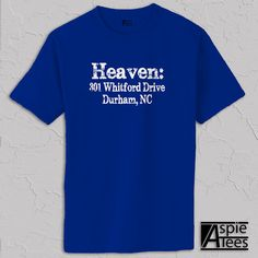 Duke Basketball Tshirt Cameron Indoor Stadium address by AspieTees, $19.99