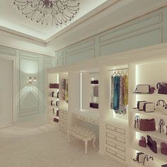 Bright beautiful closet