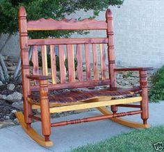 Indoor Outdoor Patio Cedar Double Rocking Chair Rocker | EBay