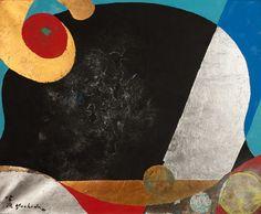 Kenji Yoshida (Japan), La Vie, 1990, (KY1074). Metals and oil on canvas, 61 x 74 cm