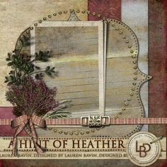 A touch of the highlands and a hint of the pinks of the heather covered Scottish hills make this kit perfect for your layouts whether they be feminine or documenting your travels. Try black and white and sepia photos for a wonderful contrast with the natural heather pink tones and aged elements of this kit.