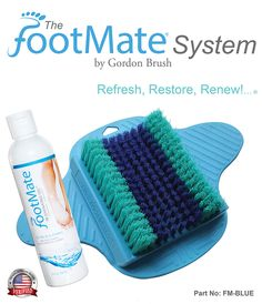 The FootMate® System new logo and new gel bottle is still your complete foot care system for cleaning, soothing, stimulating, and massaging your feet every time you shower.