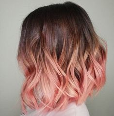 short hair balayage 26 Must-Try Short Ombre Hair Ideas für 2019 Cute Hair Colors, Hair Dye Colors, Ombre Hair Color, Cool Hair Color, Pastel Ombre Hair, Brown Hair Ombre Pink, Ombre Hair Dye, Blonde Hair Pink Tips, Ombre Rose Gold Hair