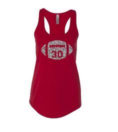 Football Mom Tank Top. Glitter Football Shirt. Custom Football Tank. Mom Football Tank. Football Shirt. Custom Tank by TNTAPPARELNMORE on Etsy https://www.etsy.com/listing/234828987/football-mom-tank-top-glitter-football