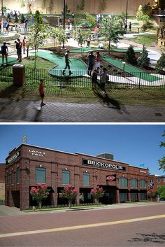 Brickopolis is your one stop shop for entertainment in Bricktown. They have mini golf, laser tag, arcade games, a pizza buffet and much more all right on the canal that runs through downtown Oklahoma City.