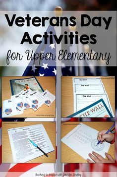 Veterans Day Activities for Upper Elementary - Lots of FREE resources on this post to teach about Veterans Day. In this post, I share some of my favorite Veterans Day activities for upper elementary. Free Veterans Day, Veterans Day Activities, Teaching Activities, Holiday Activities, Classroom Activities, Teaching Ideas, Classroom Ideas, Thanksgiving Activities, Work Activities
