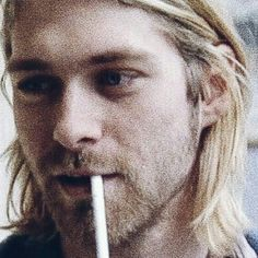 I think this is a photo of one of his last interviews. Punk Rock Grunge, Trippy Designs, Kurt And Courtney, Only Song, Donald Cobain, Nirvana Kurt Cobain, Weird Creatures, Foo Fighters, Music Is Life