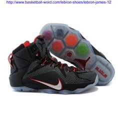 5150634d333 Very Cheap Black White Red Nike Lebron 12. Cheap Basketball Shoes