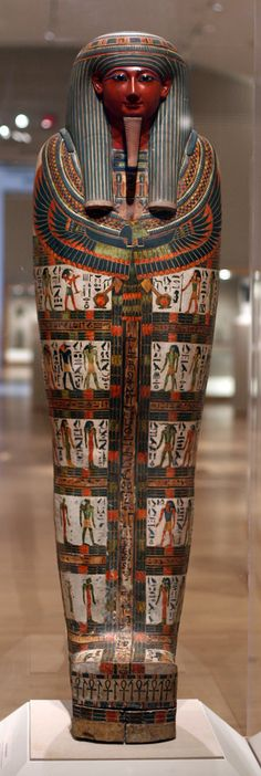 Cartonnage of Nespanetjerenpere -- 3rd Intermediate Period, Dynasty 22 -- Circa 975-718 BCE -- Excavated from Thebes, Egypt -- Brooklyn Museum