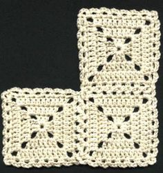 a bit old-fashioned like this, but might look nice with some funky colours involved?Looks a bit old-fashioned like this, but might look nice with some funky colours involved? Crochet Square Patterns, Crochet Blocks, Crochet Stitches Patterns, Crochet Squares, Block Patterns, Crochet Afghans, Crochet Motif, Knit Crochet, Crochet Granny