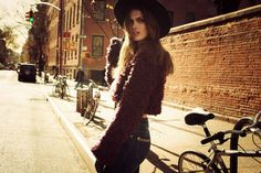 dta fall winter campaign1 Maria Palm Hits the Streets for DTA Jeans Fall 2013 Campaign by Gustavo Marx