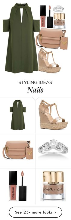 """""""Untitled#1529"""" by mihai-theodora on Polyvore featuring Topshop, Valentino, Michael Kors, Smith & Cult, Smashbox and Allurez"""