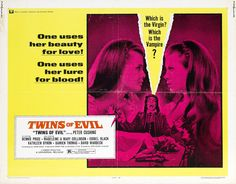 Madeleine and Mary Collison: twin actresses in Twins of Evil.