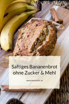 Saftiges Bananenbrot ohne Zucker & Mehl - Glutenfreies Brotrezept