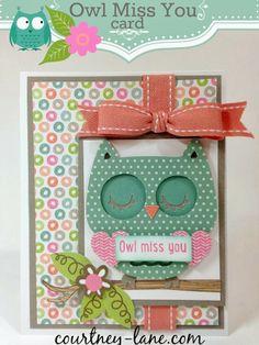 Create A Critter 2 Owl Miss You card